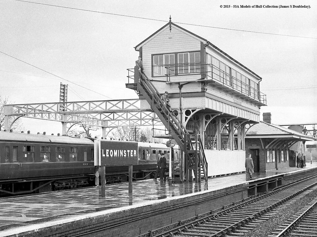 Leominster Station signal box (photo courtesy Models of Hull collection)