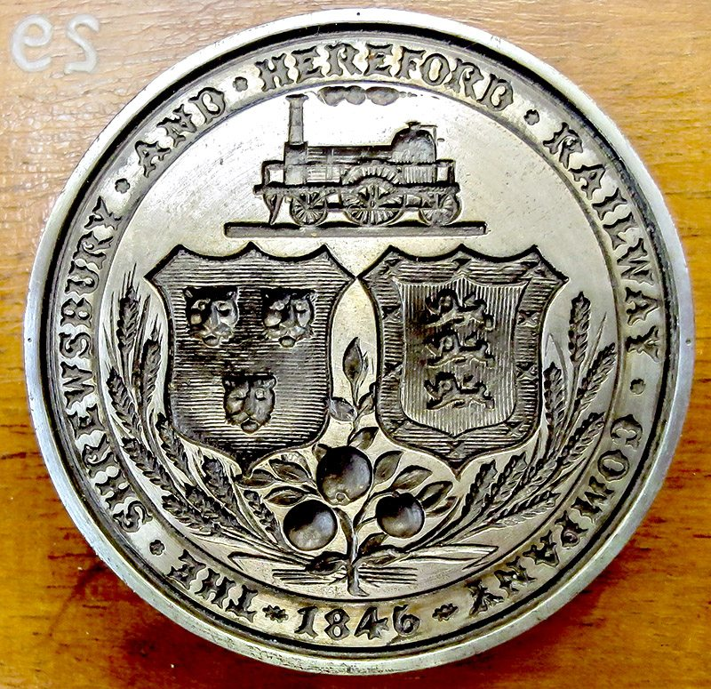 Original seal of the Shrewsbury & Hereford Railway Company of 1846