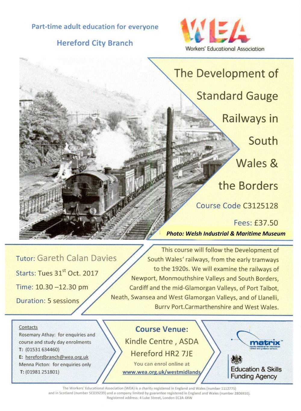 South Wales Railway Course: Workers Educational Association